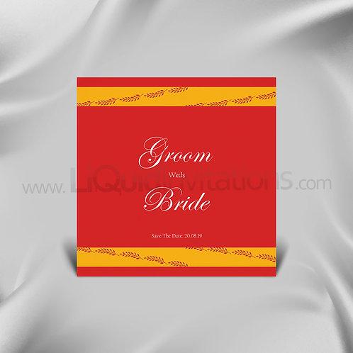 Vibrant Red wedding Invite - Red & Orange QSQ08