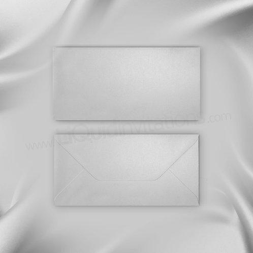 DL Invitation Style Envelope - Silver