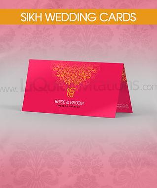 Sikh folded wedding card