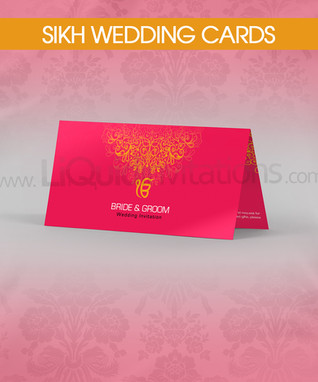 Sikh folded wedding card