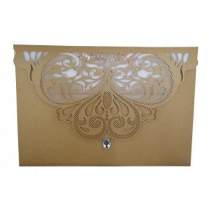 Gold Envelope Lasercut Wedding Invitation LC7011