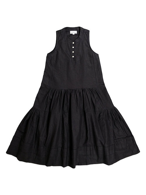KARU | Black Ruffle Dress
