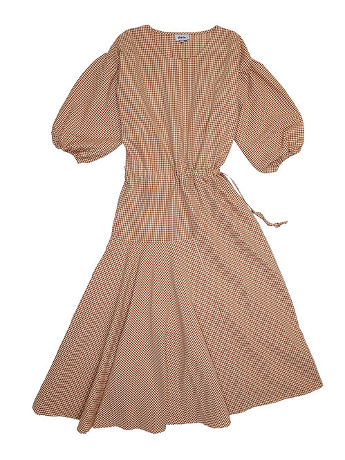 DIARTE    Camila Dress Gingham Brown