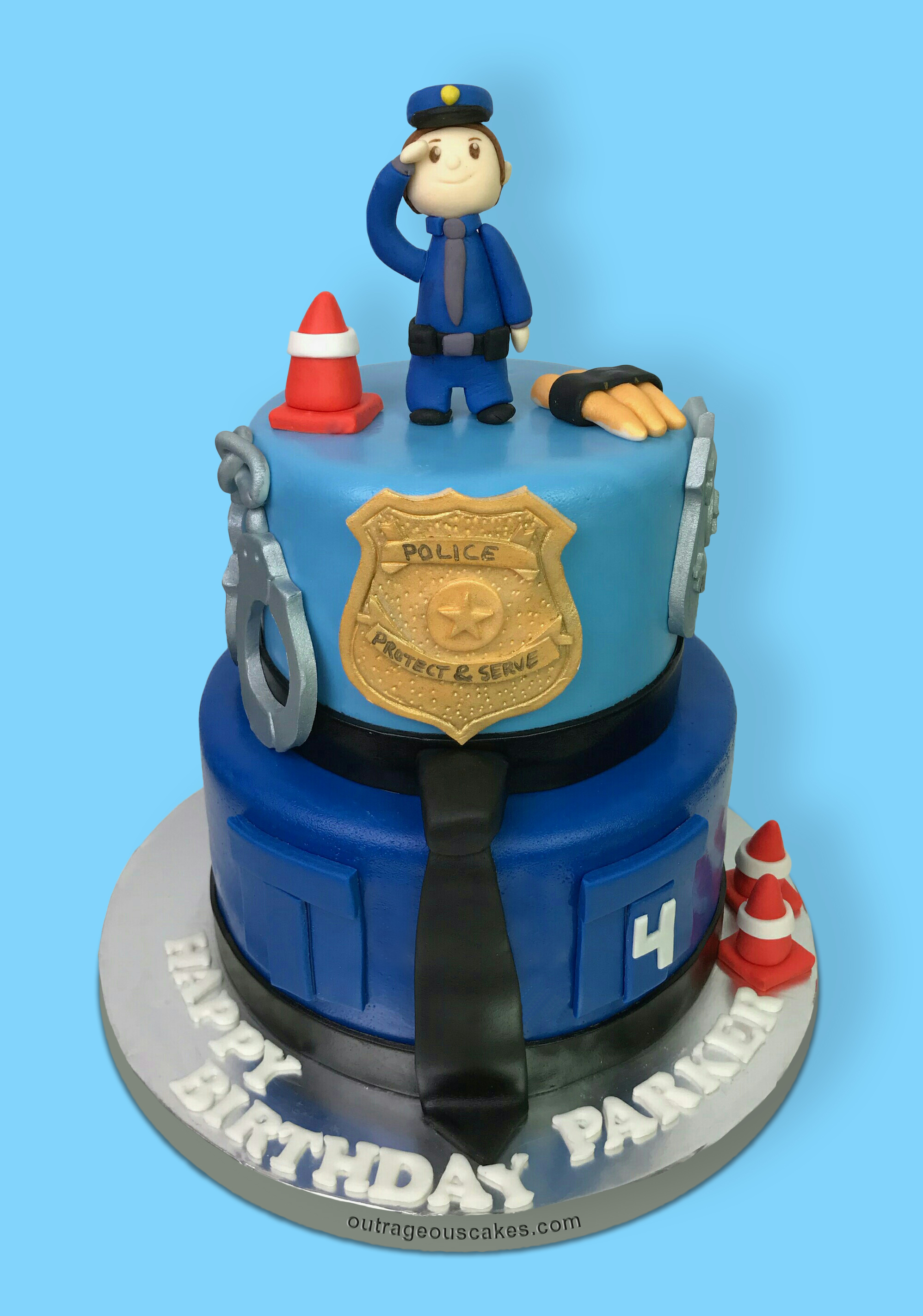 2 Tiered Police Cake