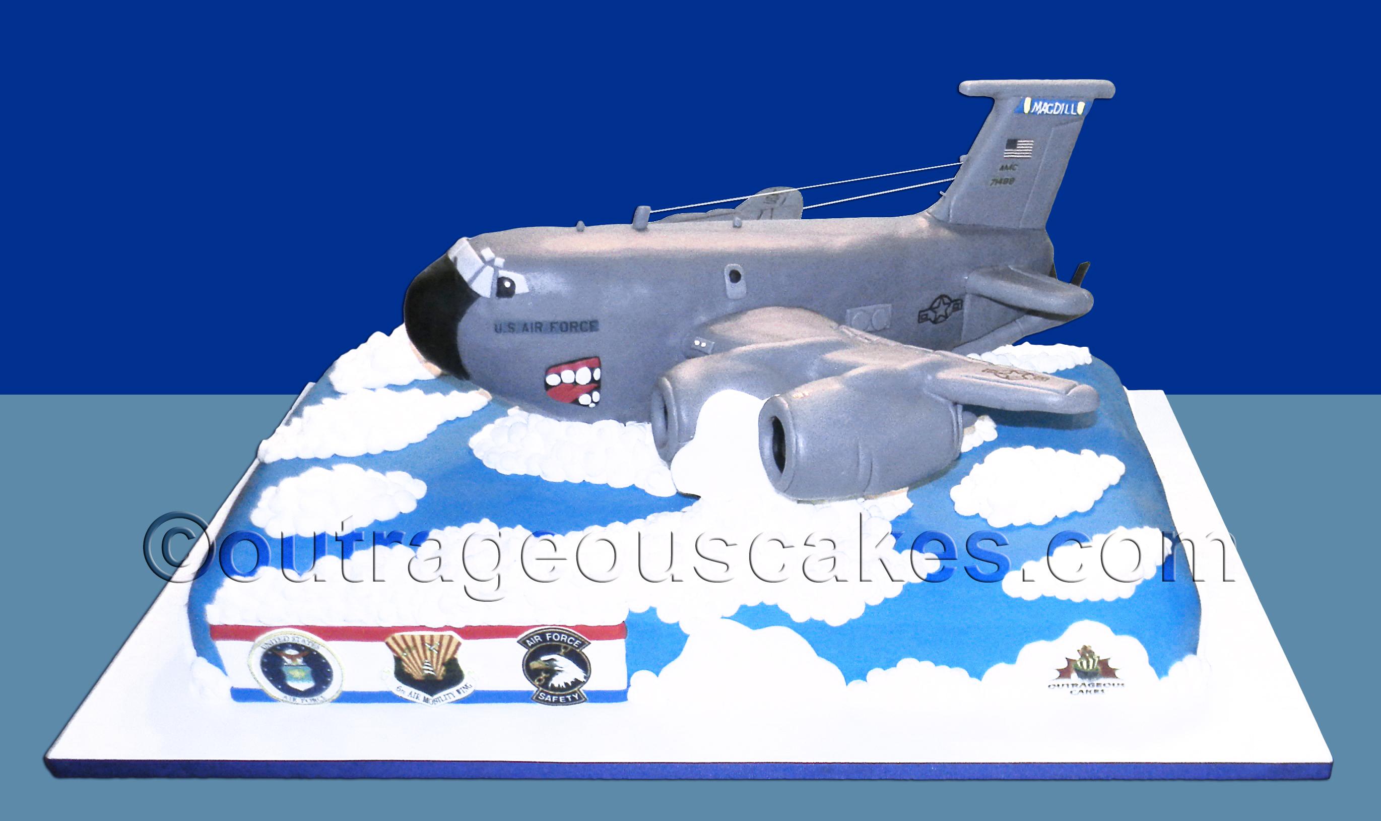 Military Plane Cake