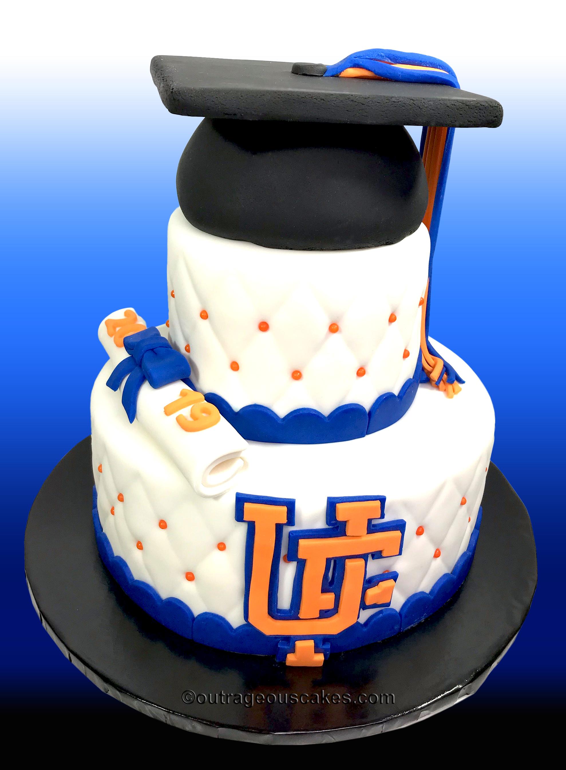 UF Grad cake