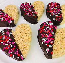Heart Shaped Cereal Treats