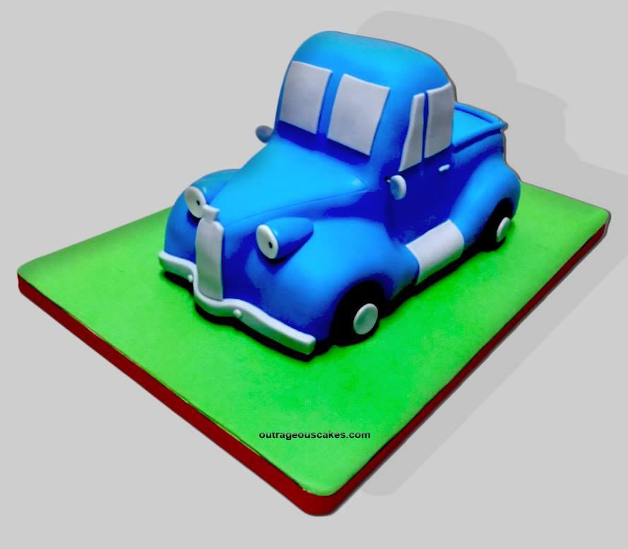 Little Blue Truck Cake