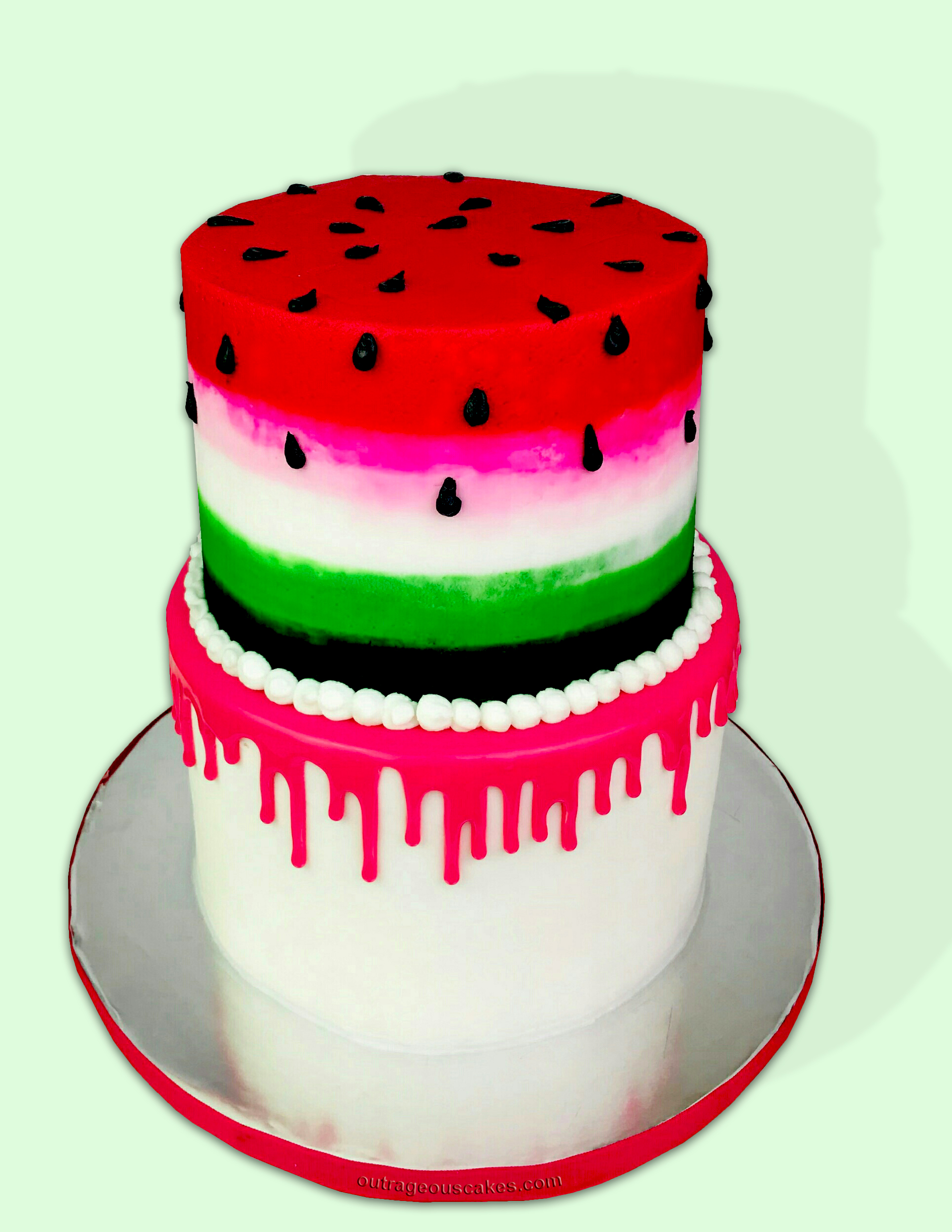 Watermelon Drip Cake