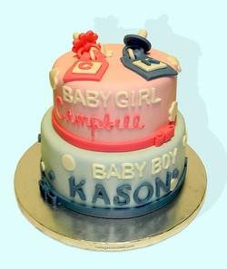 Baby Boy & Girl Cake