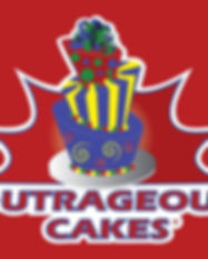 outrageous cakes tampa bakery logo