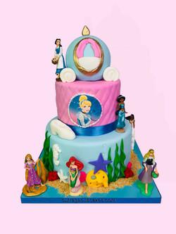Cinderella Princess Tiered Cake