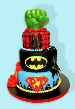 Superhero Themed Cake