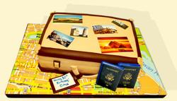 Travel Themed Cake