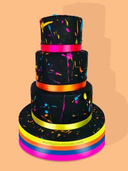 Color Splatter Cake