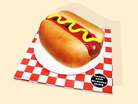 Fat Hot Dog Cake