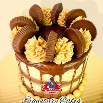 Chocolate Peanut Butter Delight Signature Cake