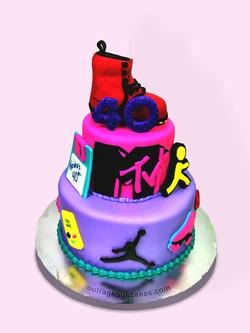 Eighties Themed Cake