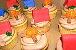 Camping Themed Cupcakes