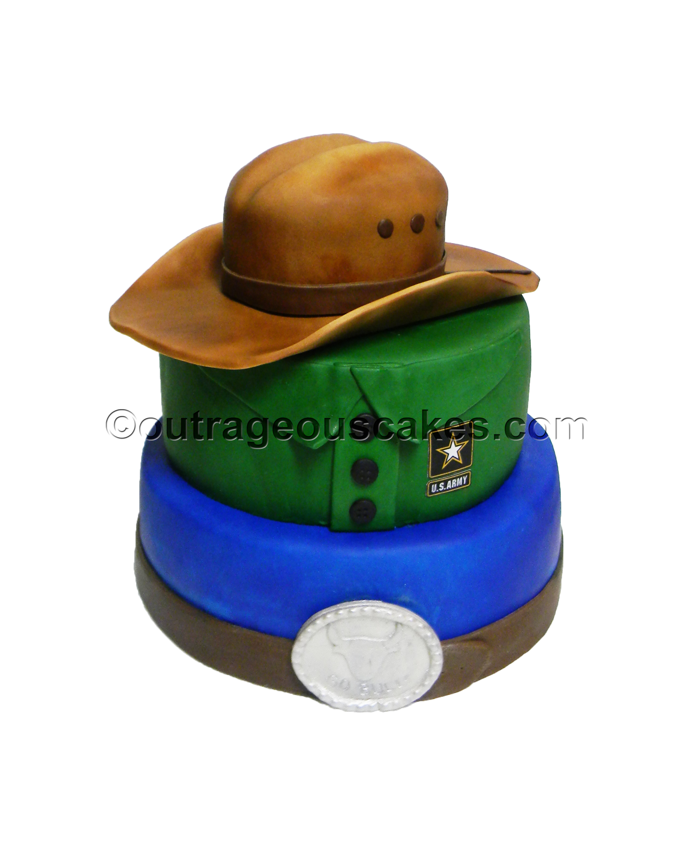 Army Cowboy Cake