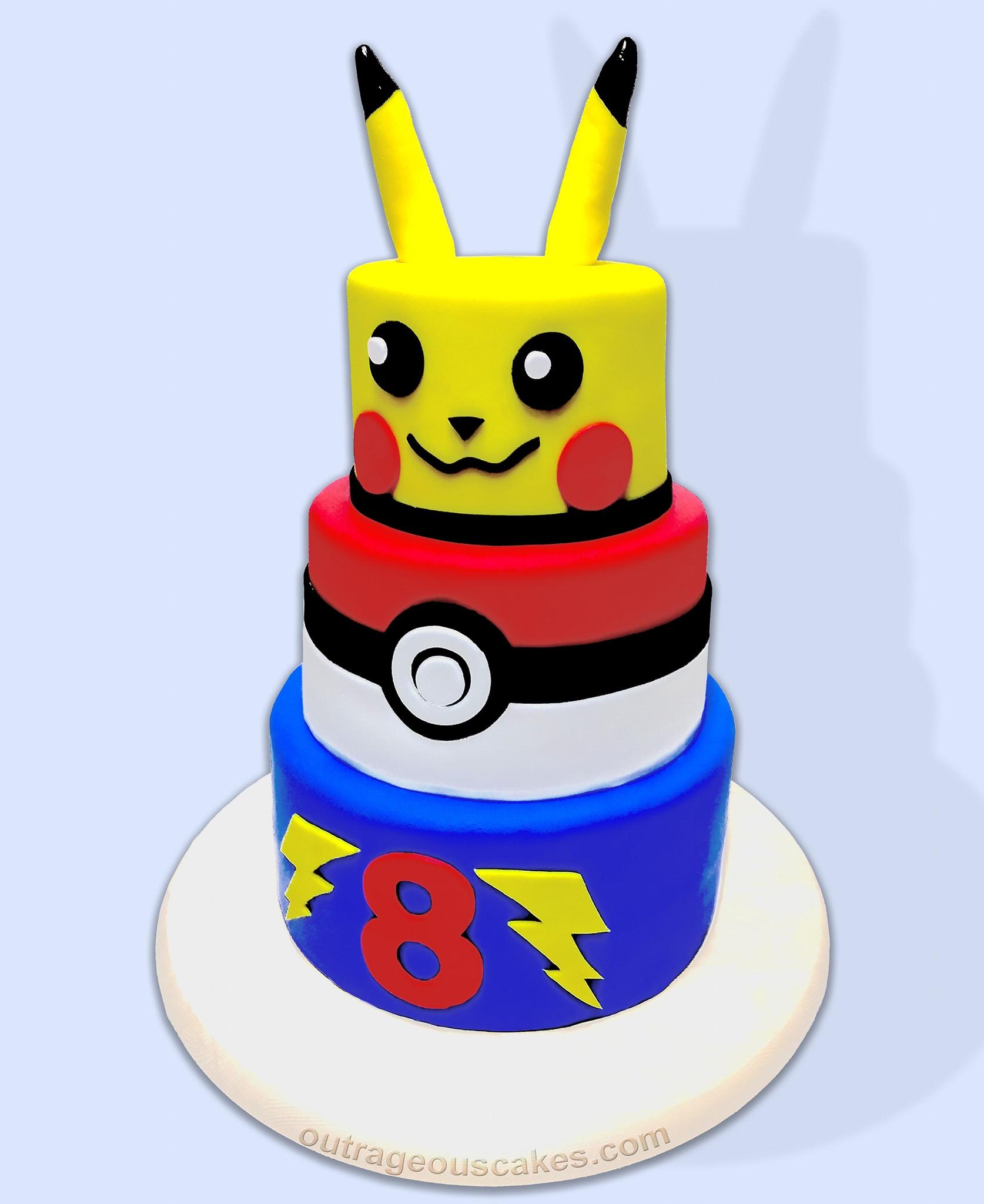 Pikachu Tiered Cake