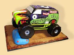 Grave Digger Monster Truck Cake