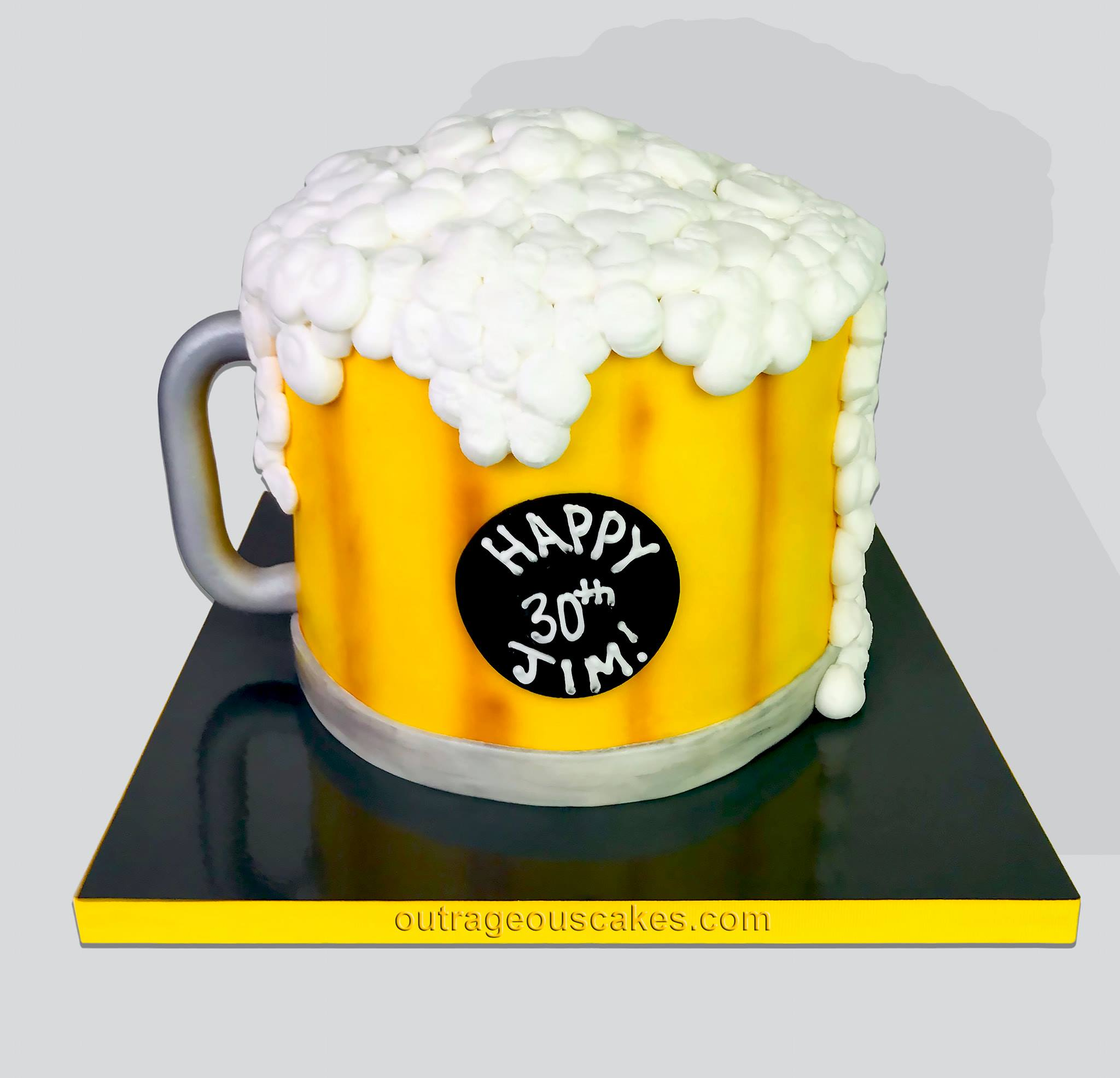 Cartoon Style Beer Mug Cake