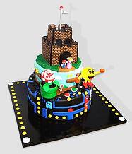 Mario and Pac-man Cake