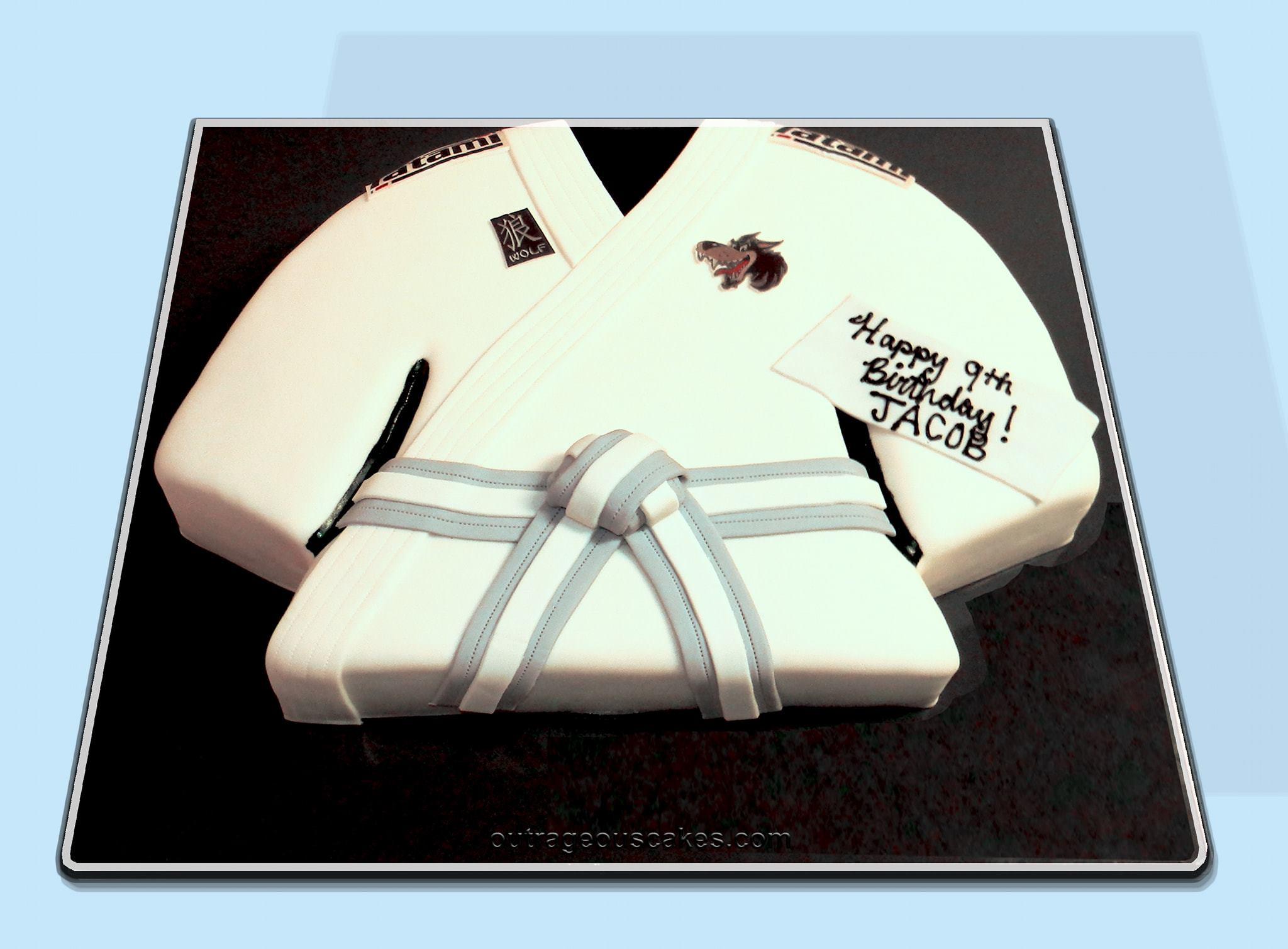 Karate Uniform Cake