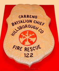Firefighter's Badge Cake