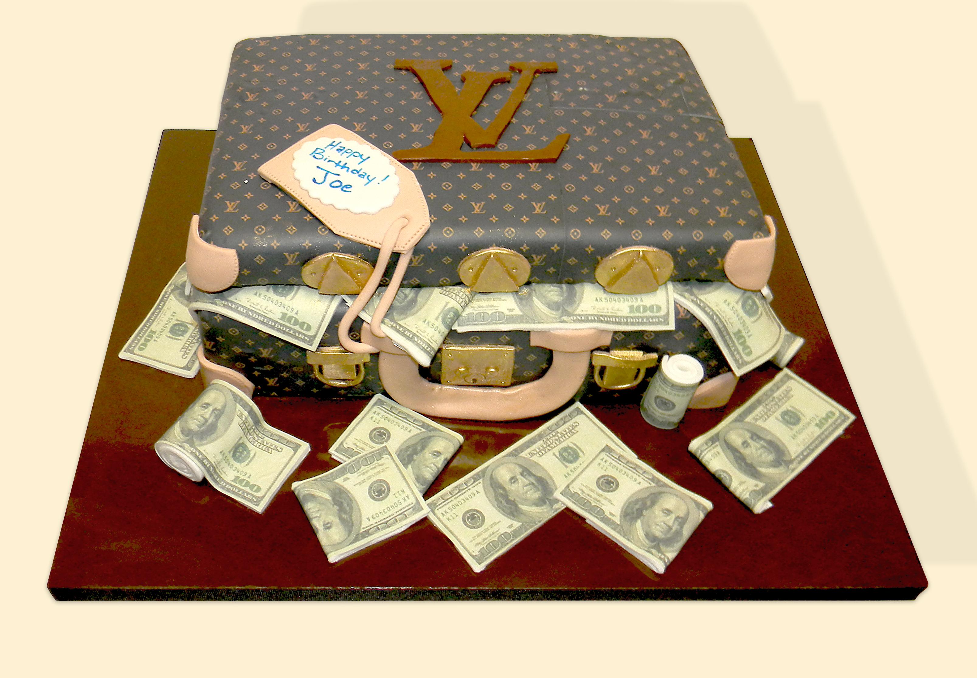 Designer Brief Case Cake