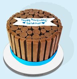 Kit Kat Reese's Cake