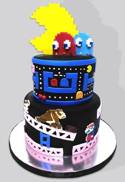 Pac-man & Donkey Kong Cake