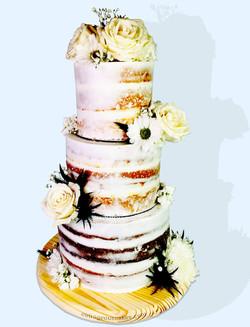 3 Tier Semi-Naked Cake