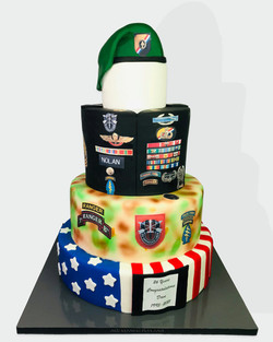 Military Tiered Cake