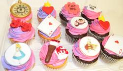 Alice in Wonderland Themed Cupcakes