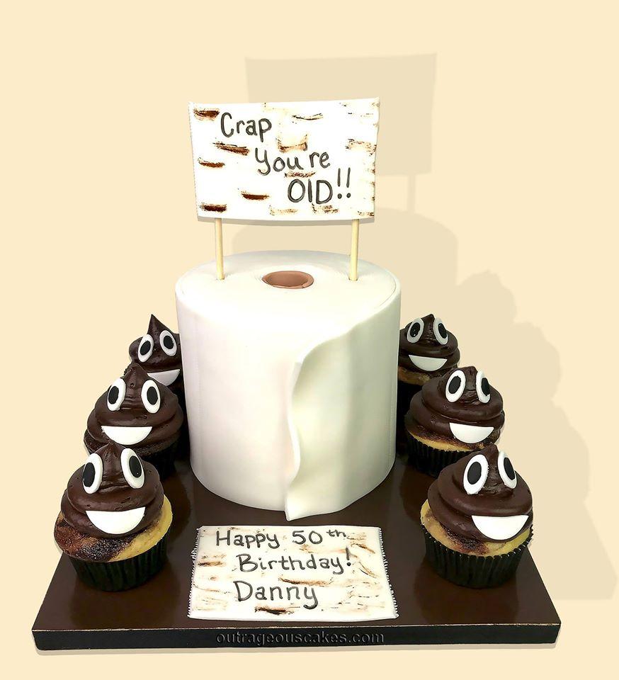 Tiolet Paper and Poo Emoji Cupcakes