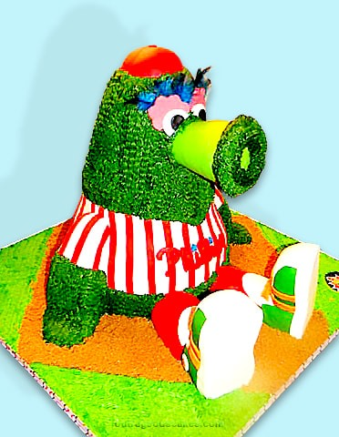 Phillie Phanatic Cake