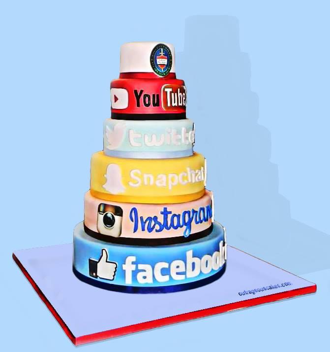Social Media Cake