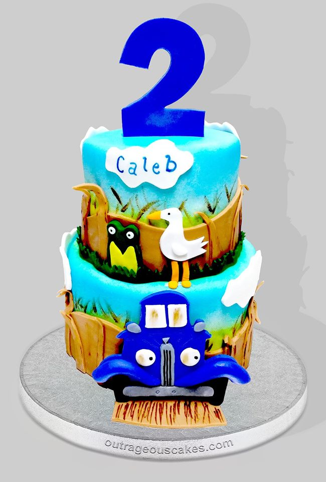 Little Blue Truck Tiered Cake