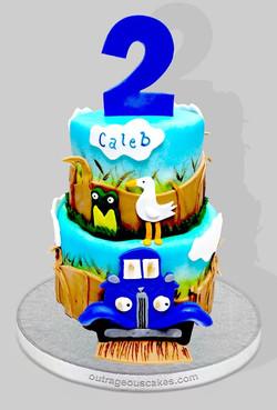 Little Blue Truck Tiered Cake