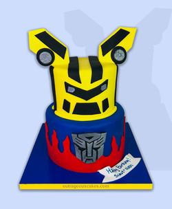 Bumble Bee Transformers Cake