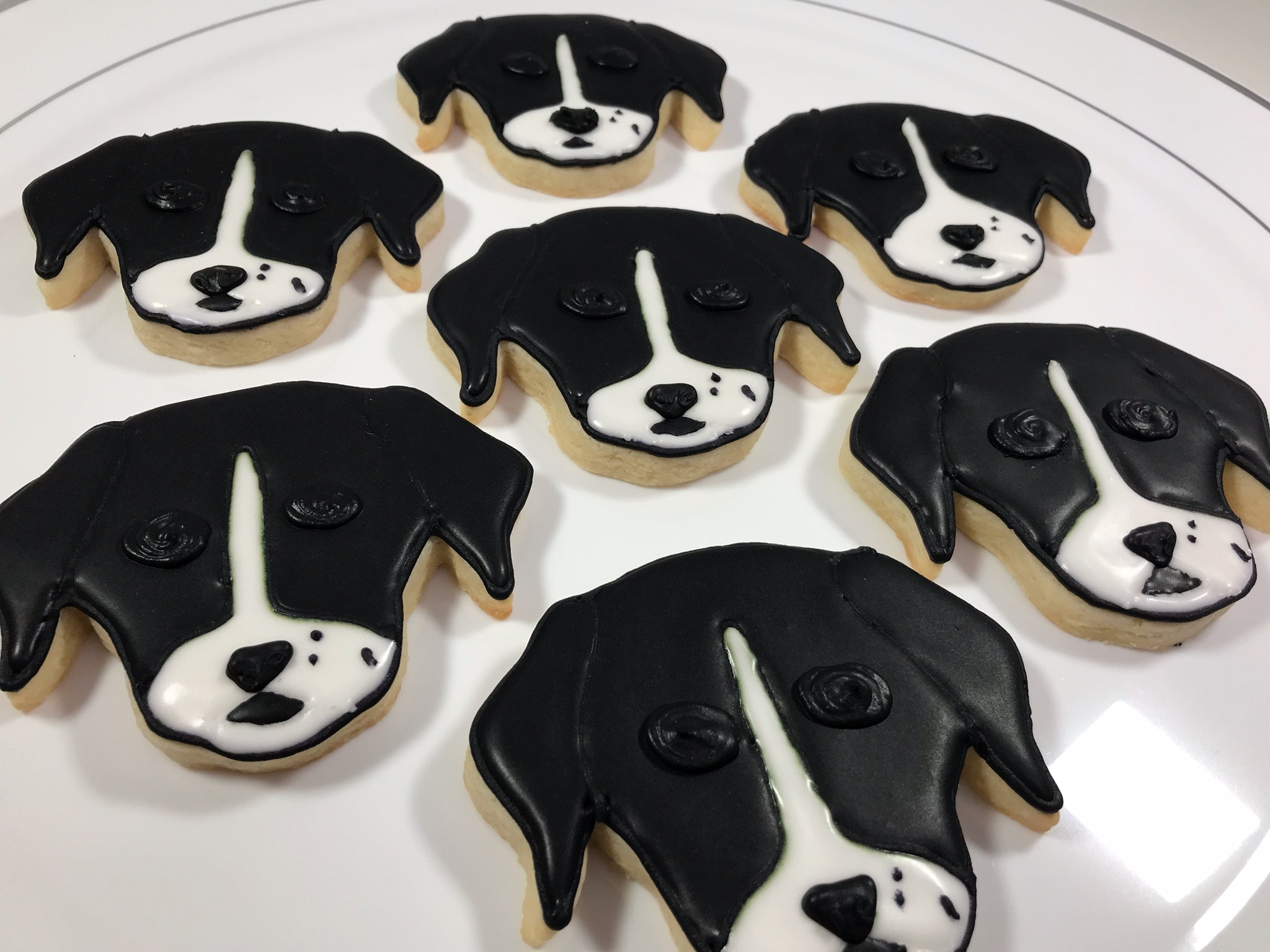 Dog Head Cookies