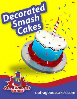 Decorated Smash Cakes
