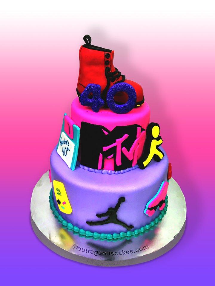1990's Themed Cake