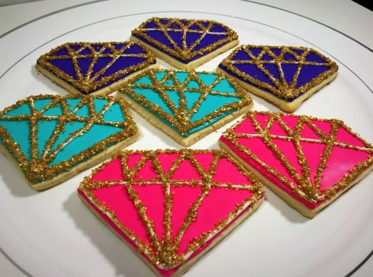 Diamond  Shaped Cookies