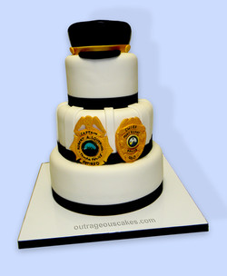 3 Tiered Police Cake