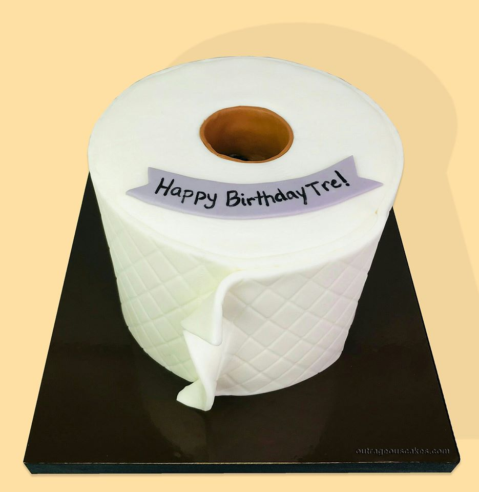 Quilted Toilet Paper Cake