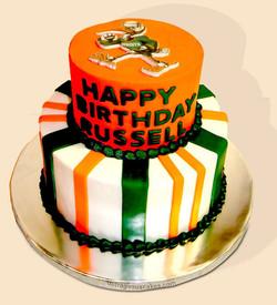 Miami Hurricanes Cake