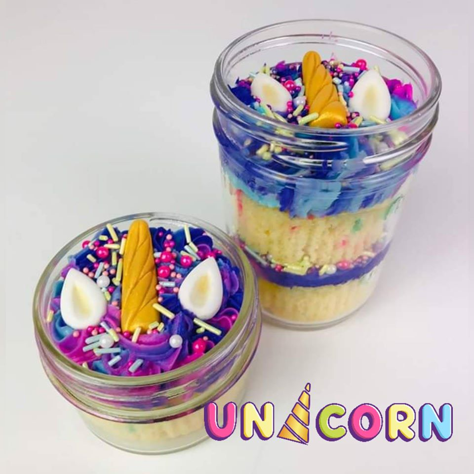 4 oz & 8 oz Unicorn Cake Jars